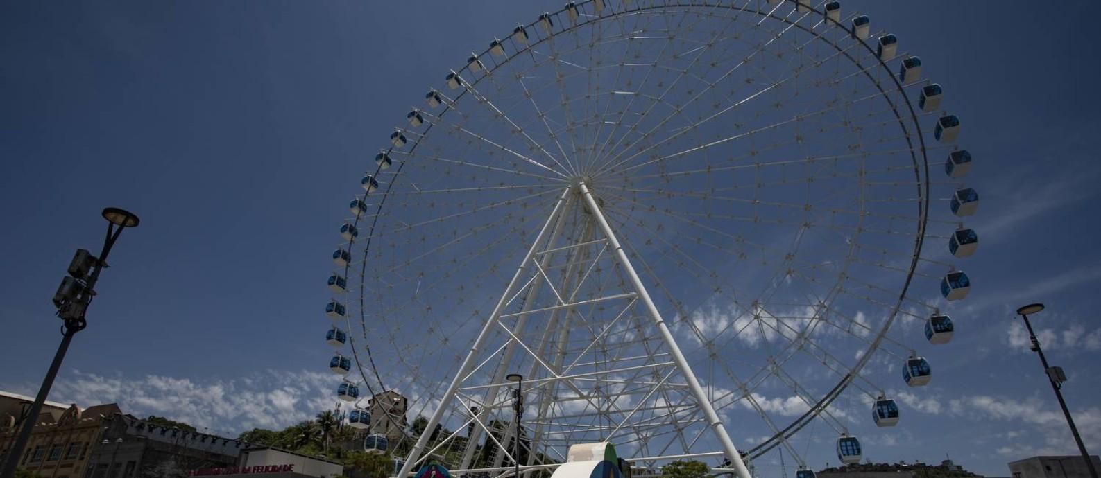 Roda-gigante do Rio: atração turística na zona portuária Foto: Ana Branco / Agência O Globo