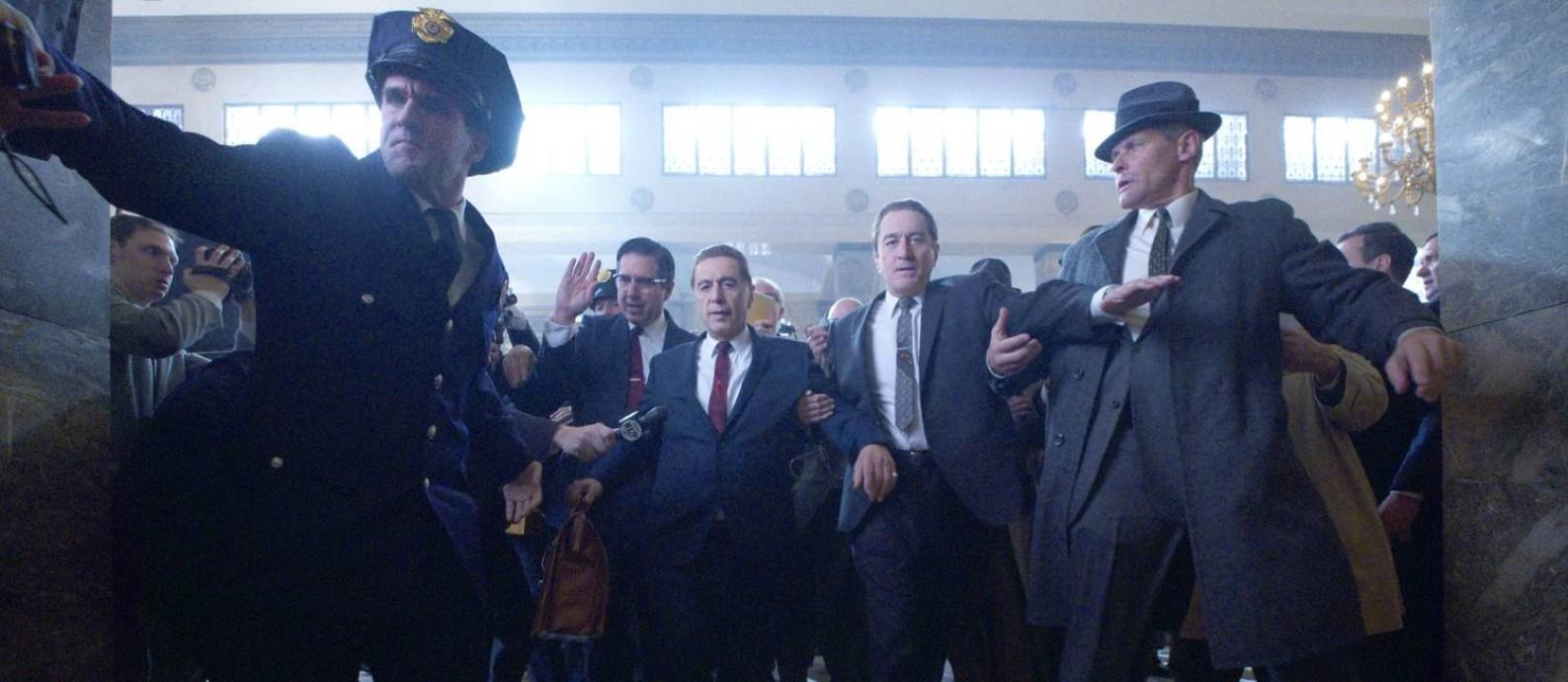 'O irlandês' filme de Martin Scorsese com Al Pacino e Robert De Niro é um dos favoritos na disputa do Globo de Ouro Foto: Niko Tavernise / NETFLIX