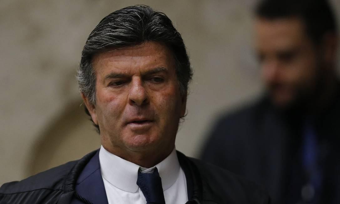 O ministro Luiz Fux , do STF Foto: Jorge William / Agência O Globo