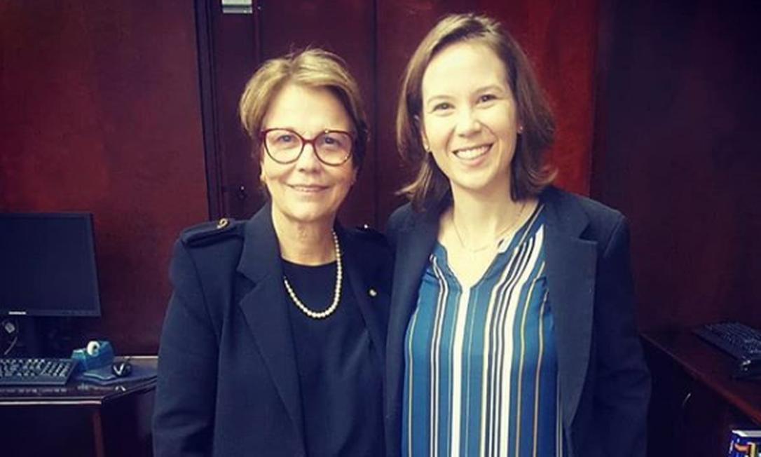 Mariane Crespolini (à direita) com a ministra da Agricultura, Tereza Cristina Foto: Reprodução / Instagram