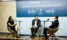 Rodrigo Maia grava podcast do GLOBO Foto: BRENNO CARVALHO / Agência O Globo