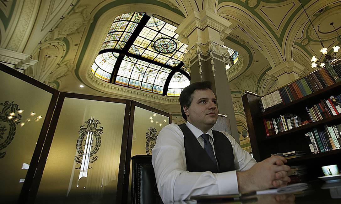 Rafael Nogueira, novo presidente da Biblioteca Nacional: sem aulas a Eduardo Bolsonaro Foto: Antonio Scorza / Agência O Globo