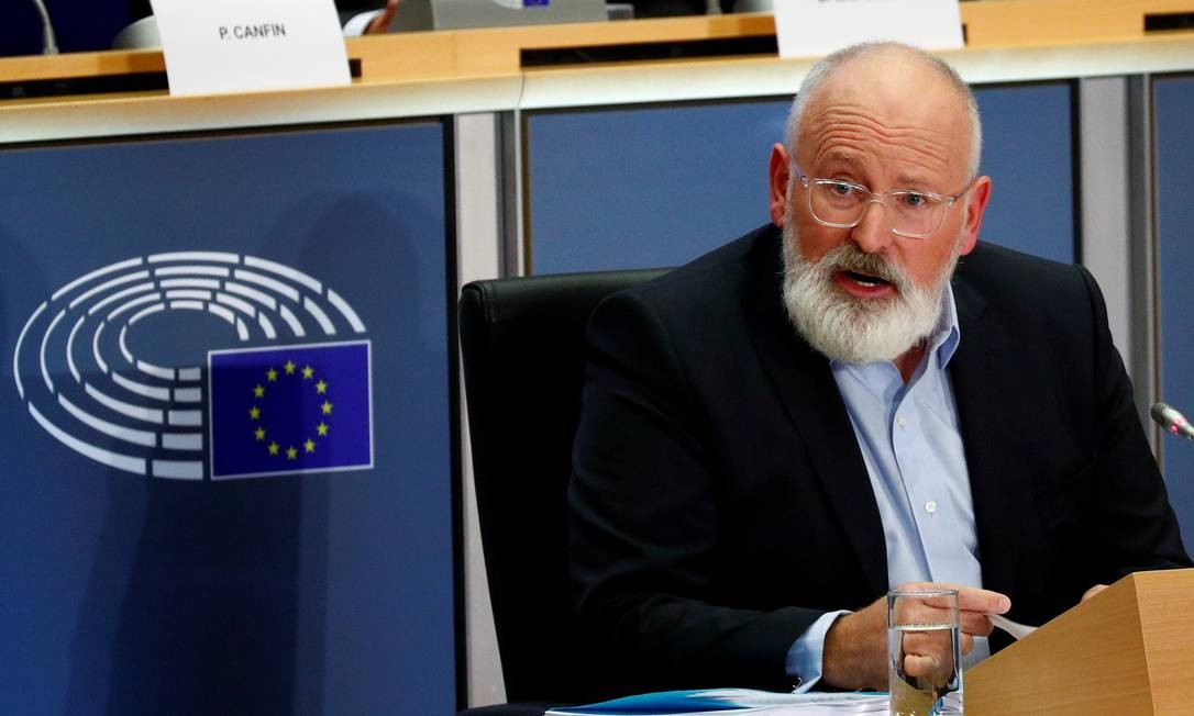 O vice-presidente executivo da Comissão Europeia, o holandês Frans Timmermans Foto: Francois Lenoir / Reuters