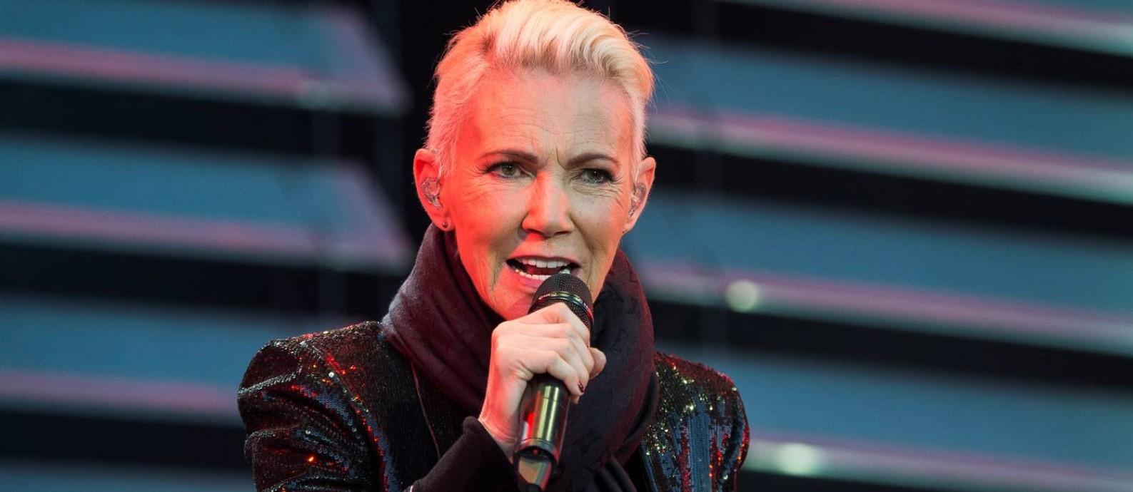 Marie Fredriksson, do Roxette,canta durante um show em Kalmar, na Suécia Foto: TT NEWS AGENCY / via REUTERS