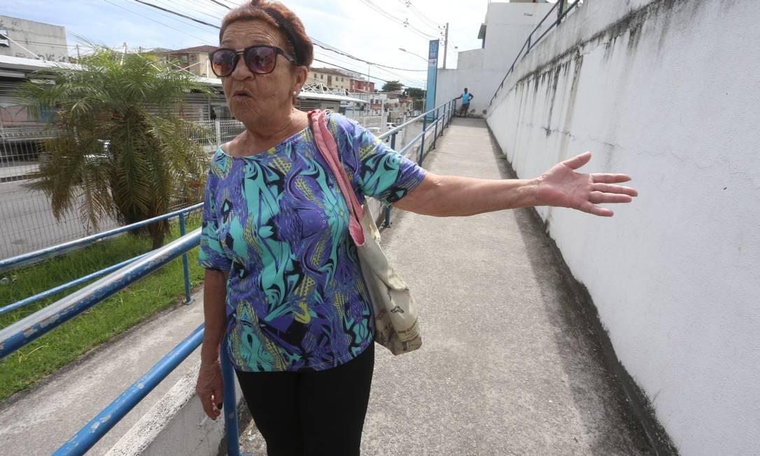 Ana Cecília Branco: sem consulta nem medicamento para controlar pressão Foto: Fabiano Rocha / Agência O Globo