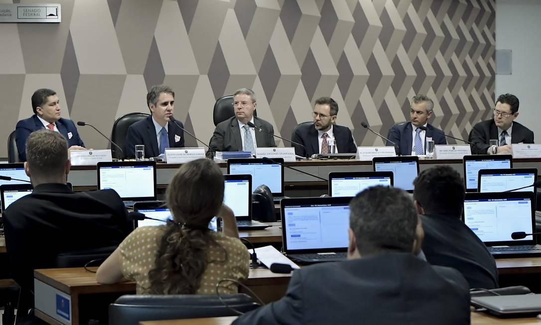 Sessão da Comissão de Constituição, Justiça e Cidadania (CCJ) do Senado Foto: Waldemir Barreto / Agência Senado