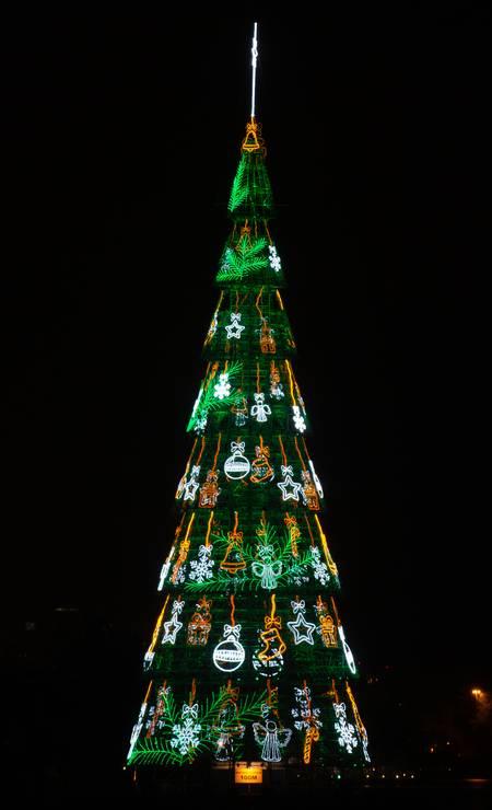 A Árvore da Lagoa foi inaugurada no dia 14 de dezembro Foto: Roberto Moreyra / Agência O Globo