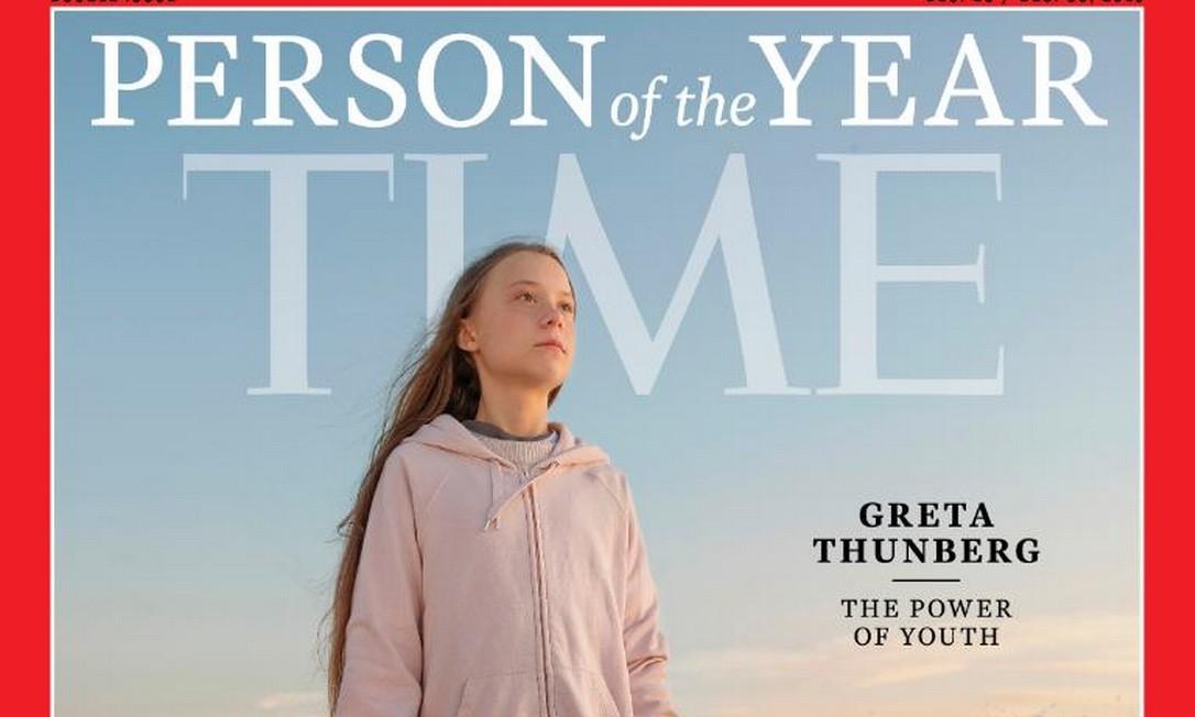 Greta Thunberg foi escolhida a personalidade de 2019 pela 'TIME' Foto: Reprodução