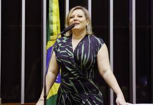 Nova líder da bancada do PSL na Câmara, a deputada federal Joice Hasselmann (SP) Foto: Danilo Borges / Câmara dos Deputados