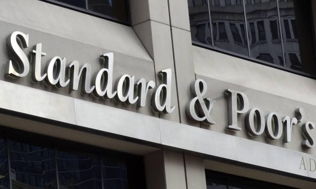Fachada da Standard & Poor's (S&P) Foto: Bloomberg News