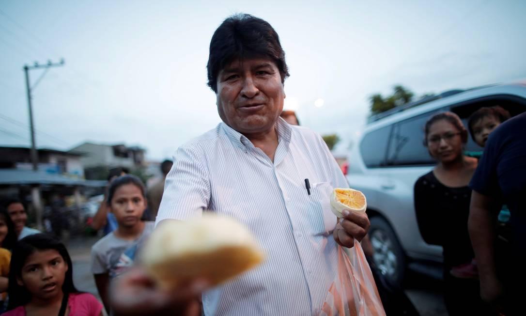 Morales durante a campanha em Chapare, na Bolívia Foto: Ueslei Marcelino / REUTERS