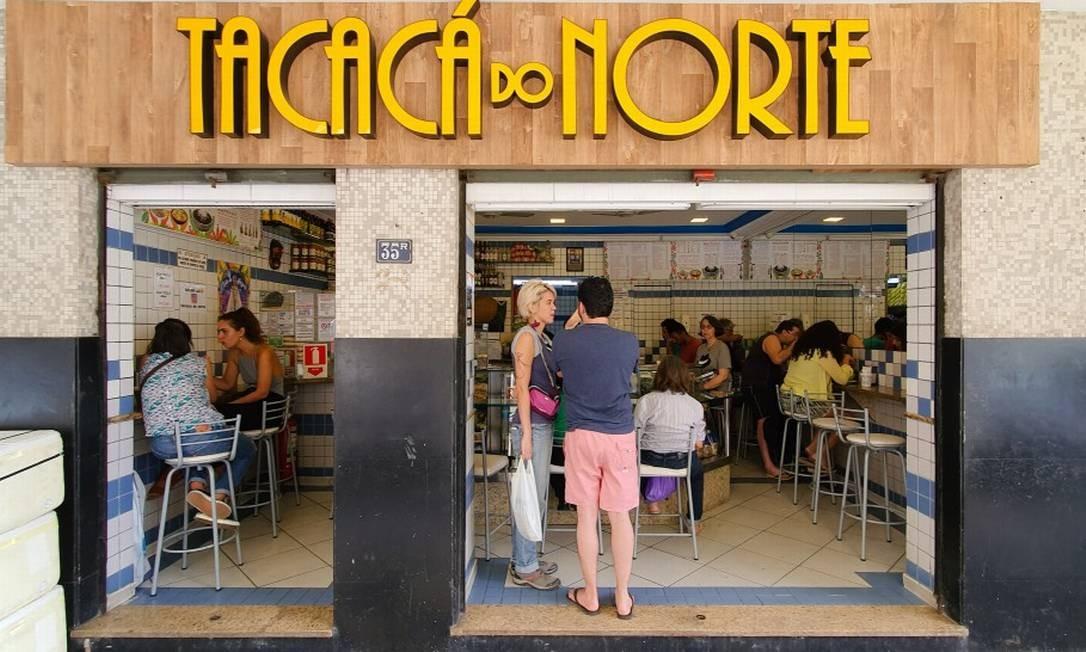 Tacacá do Norte, no Flamengo Foto: Leo Martins