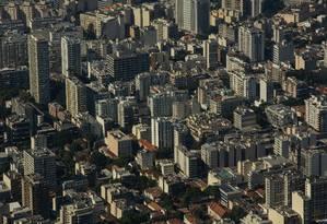 CIDADE DO RIO DE JANEIRO VISTO DE CIMA. NA FOTO: BAIRRO DE BOTAFOGO. Foto: Brenno Carvalho / Agência O Globo