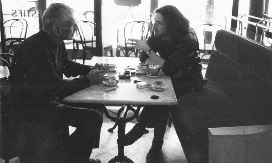Samuel Beckett e Gerald Thomas em Paris Foto: Daniela Thomas / Acervo Pessoal