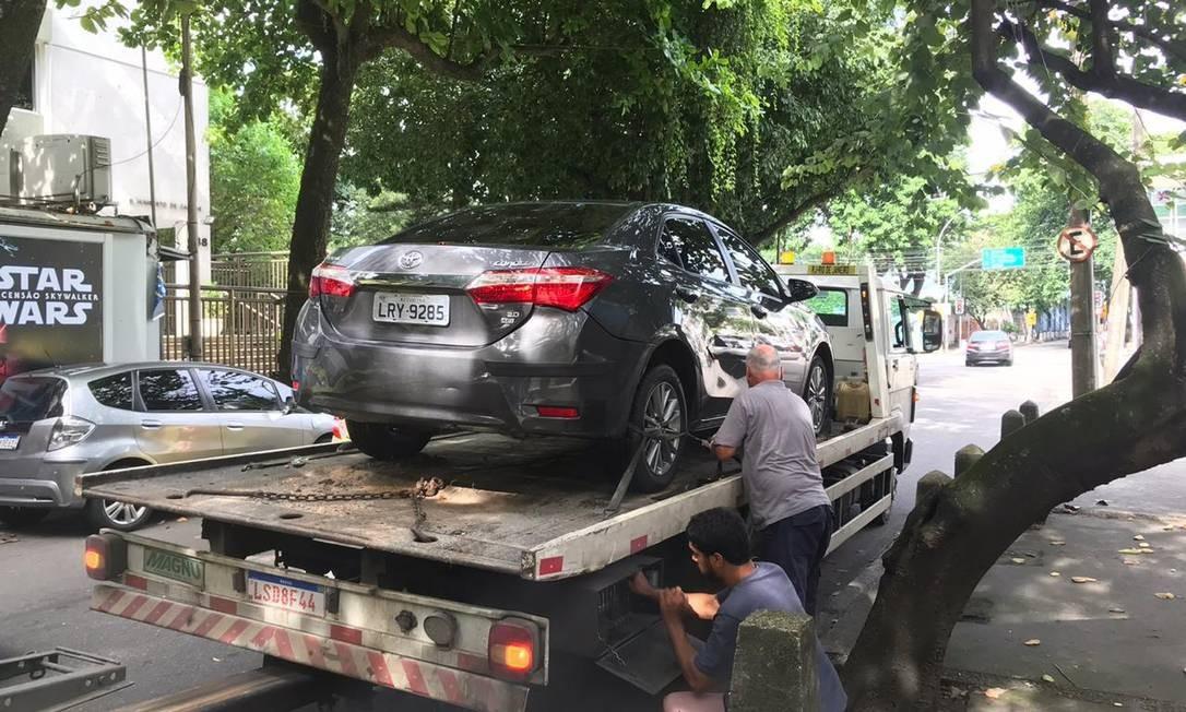 Carro que estava sendo negociado pelos criminosos é apreendido Foto: Divulgação