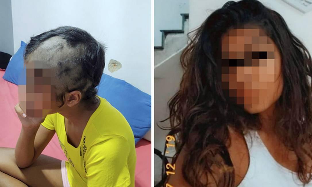 Mãe da adolescente de 14 anos diz que o pai raspou o cabelo e a agrediu Foto: Arquivo Pessoal