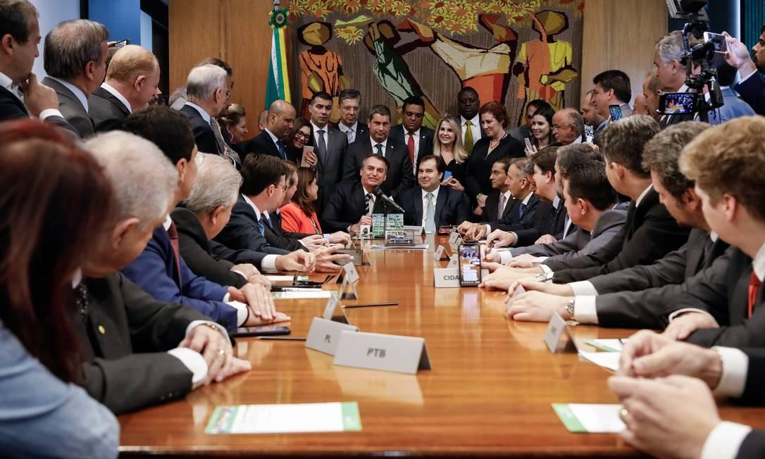 Bolsonaro é recebido na Câmara. Legislativo terá mais poder na execução de emendas 04/06/2019 Foto: Carolina Antunes / divulgação