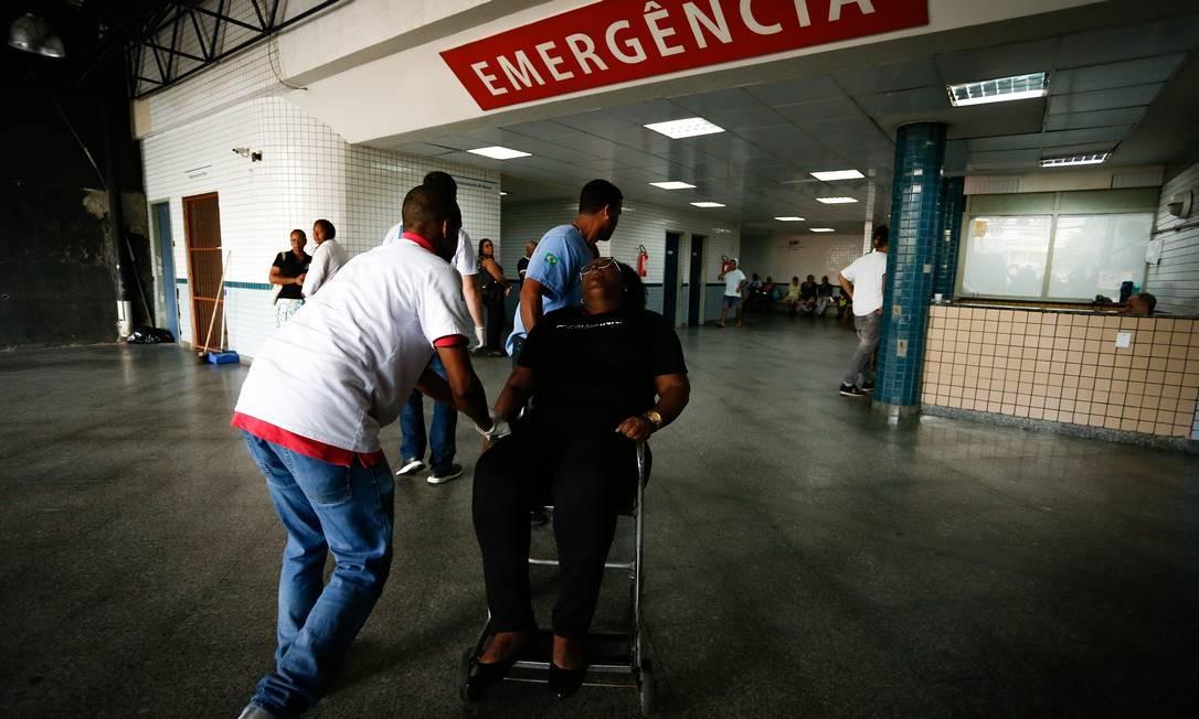 Paciente no Hospital Salgado Filho (12.12.2019) Foto: Pablo Jacob / Agência O Globo
