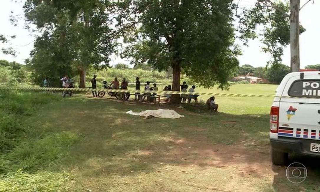 Índígena de 15 anos é morto a facadas durante festa no interior do Maranhão Foto: Reprodução TV Globo