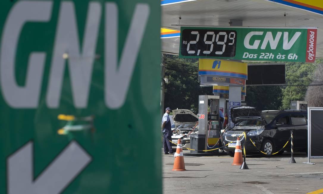Posto de combustível no Rio: GNV será vendido por quilo Foto: Márcia Foletto/9-7-2019 / Agência O Globo