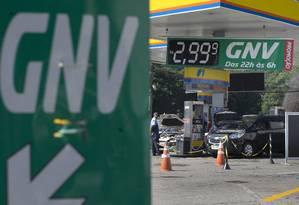 Posto de combustível no Rio: GNV será vendido por quilo Foto: Márcia Foletto / Agência O Globo