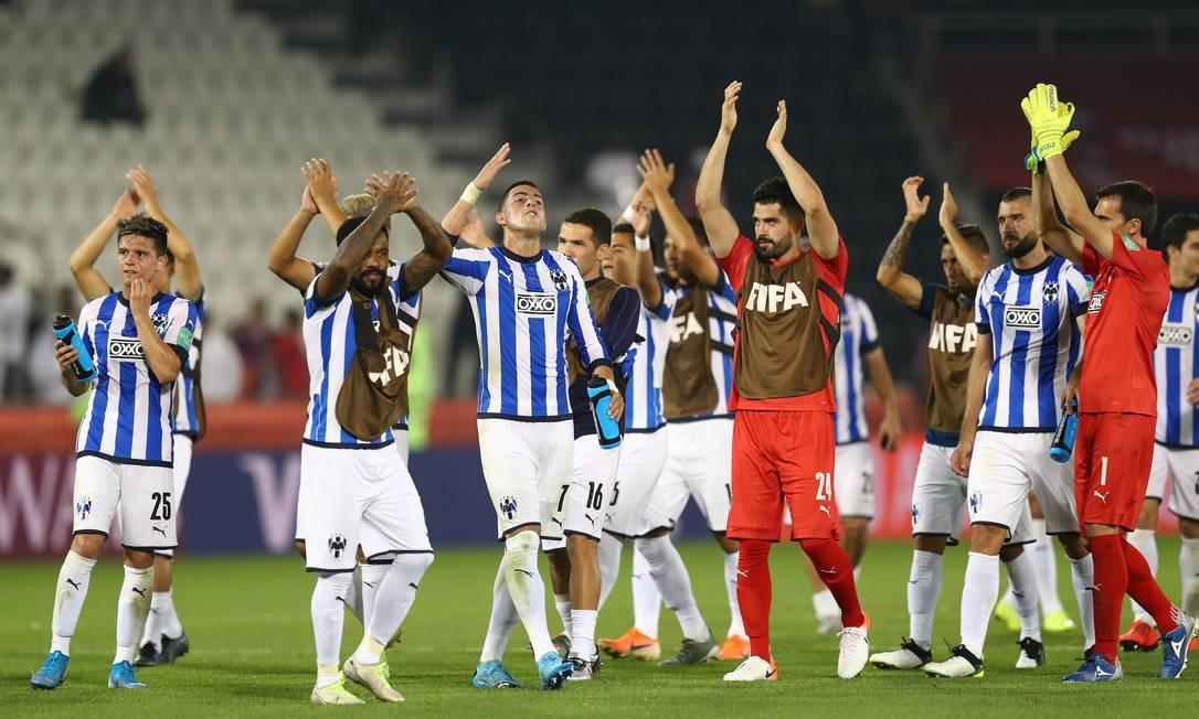 Jogadores do Monterrey celebram a vitória suada sobre o Al Sadd Foto: IBRAHEEM AL OMARI / REUTERS