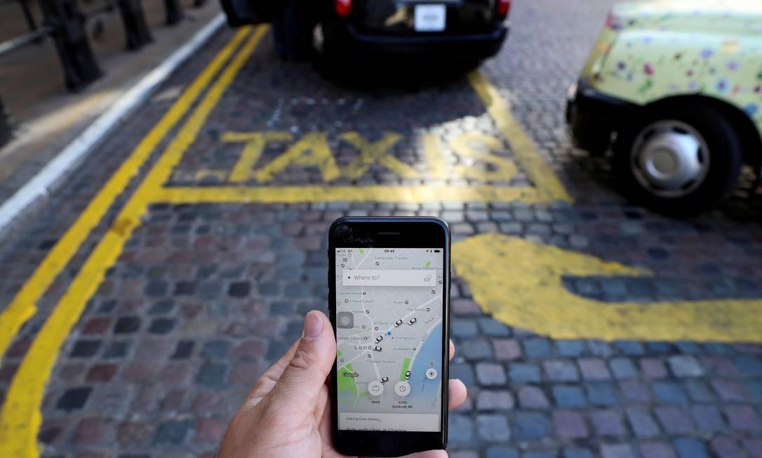 Aplicativo de transporte Foto: Simon Dawson / REUTERS