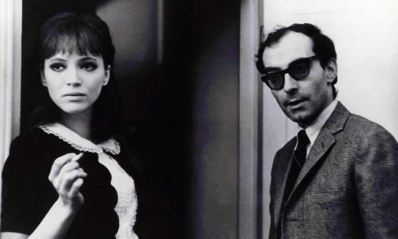 Anna Karina e Jean-Luc Godard no set de Alphaville (1965) Foto: Kobal / The Picture Desk