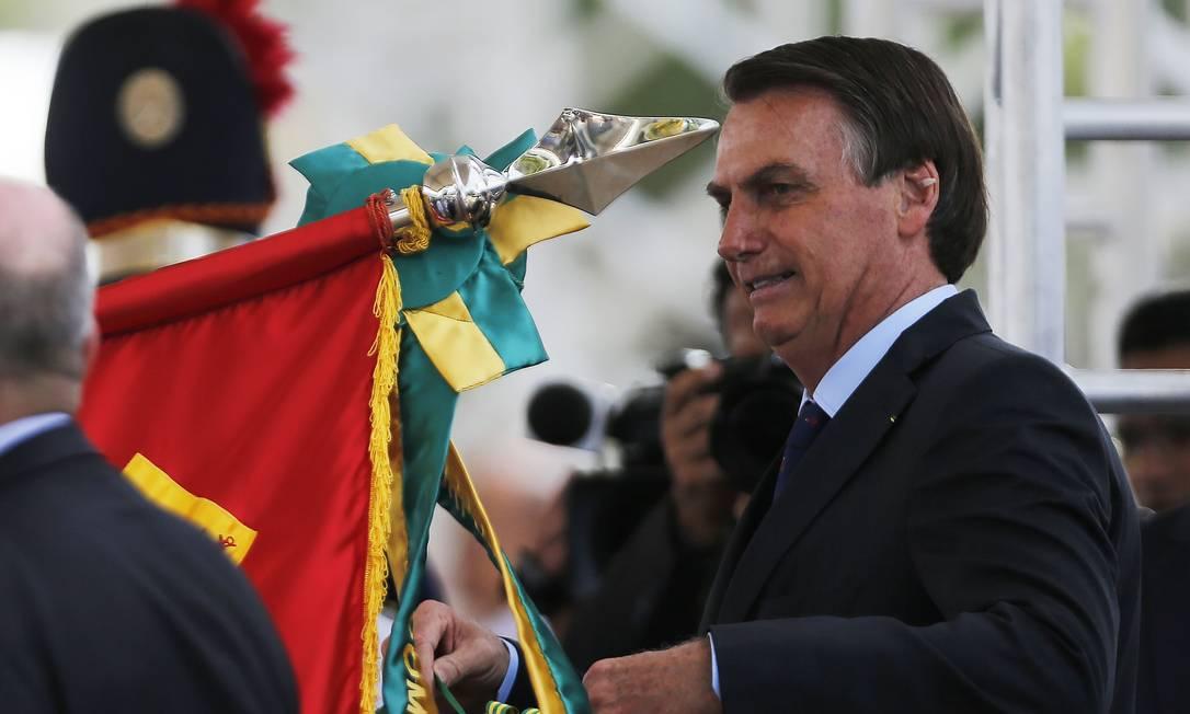 Bolsonaro criticou europeus Foto: Jorge William / Agência O Globo