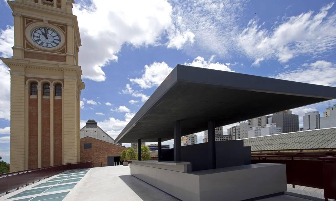Uma das novidades do novo projeto é o terraço com vista para o parque da Luz Foto: Edilson Dantas / Agência O Globo
