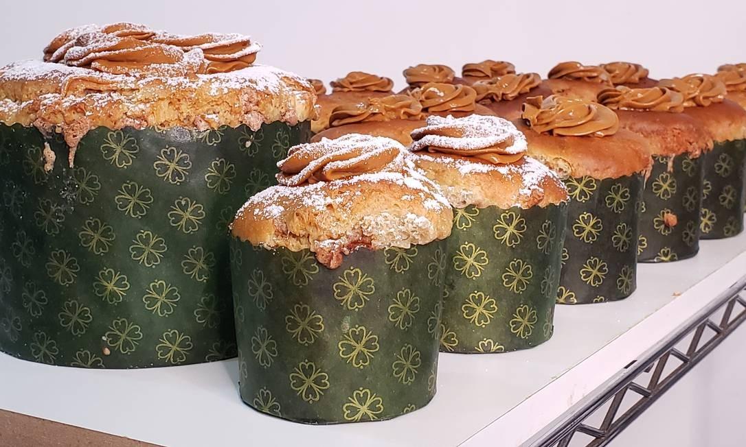 Baketones. Os panetones artesanais da Baked Gourmet (98143-2653) têm seis diferentes sabores e custam de R$ 29 (300g), a R$ 79 (850g) Foto: Marco Moreira / Divulgação