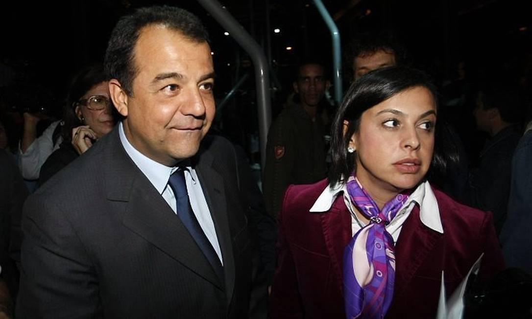 Sérgio Cabral e Adriana Ancelmo Foto: Fabio Rossi/Agência O Globo
