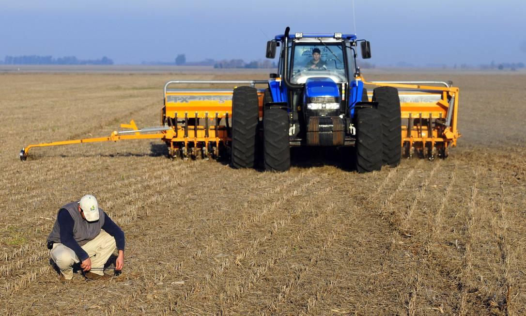 Plantação de trigo na Argentina: em 2008, houve greve dos produtores devido ao aumento de tarifa sobre exportação de grãos Foto: Diego Giudice / Bloomberg News