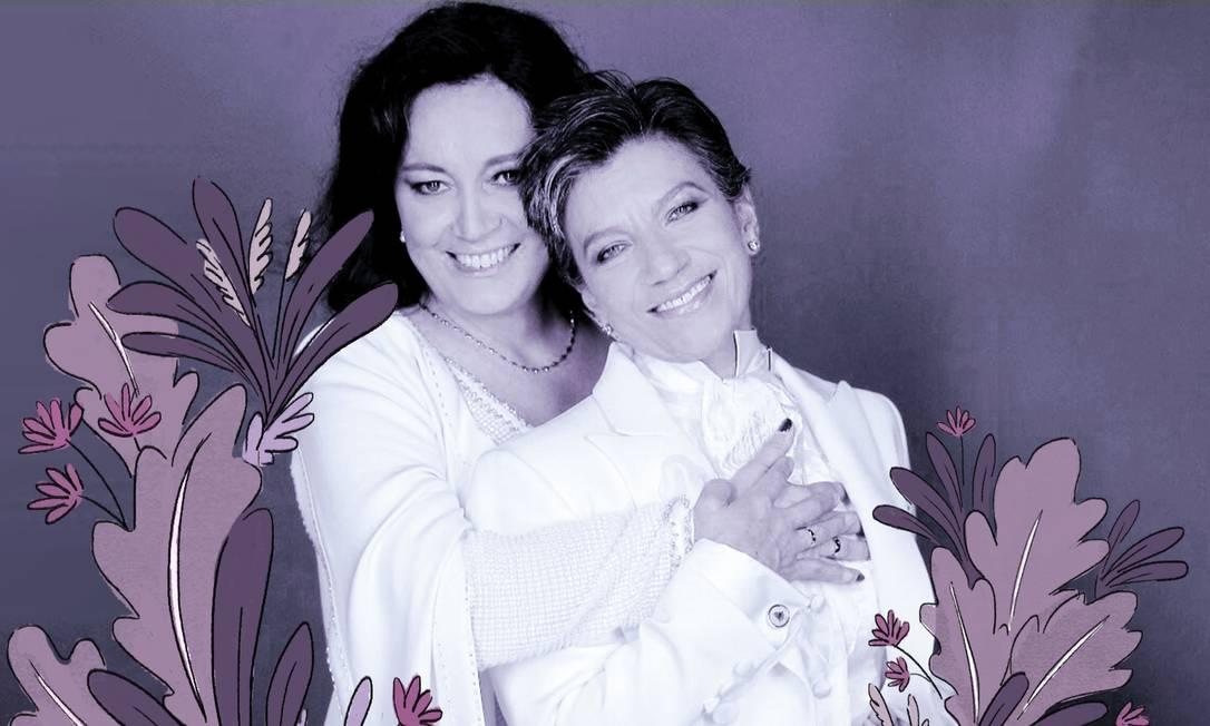 Prefeita eleita Claudia López (à direita) e sua mulher, Angélica Lozano, em foto compartilhada no Twitter Foto: Raúl Higuera / Twitter/Reprodução