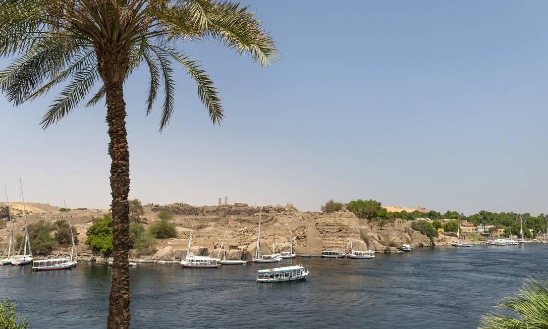 Barcos no Rio Nilo em Aswan, Egito Foto: MARIA MAVROPOULOU / NYT