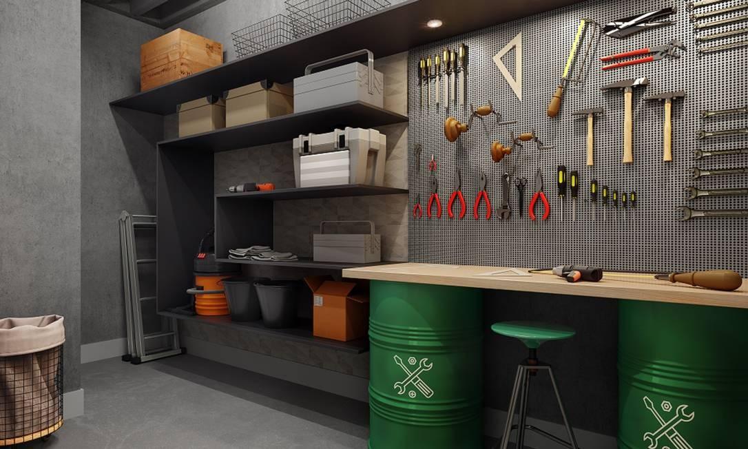 A sala de ferramentas do condomínio Life 360 Residences, da Calçada Foto: Reprodução