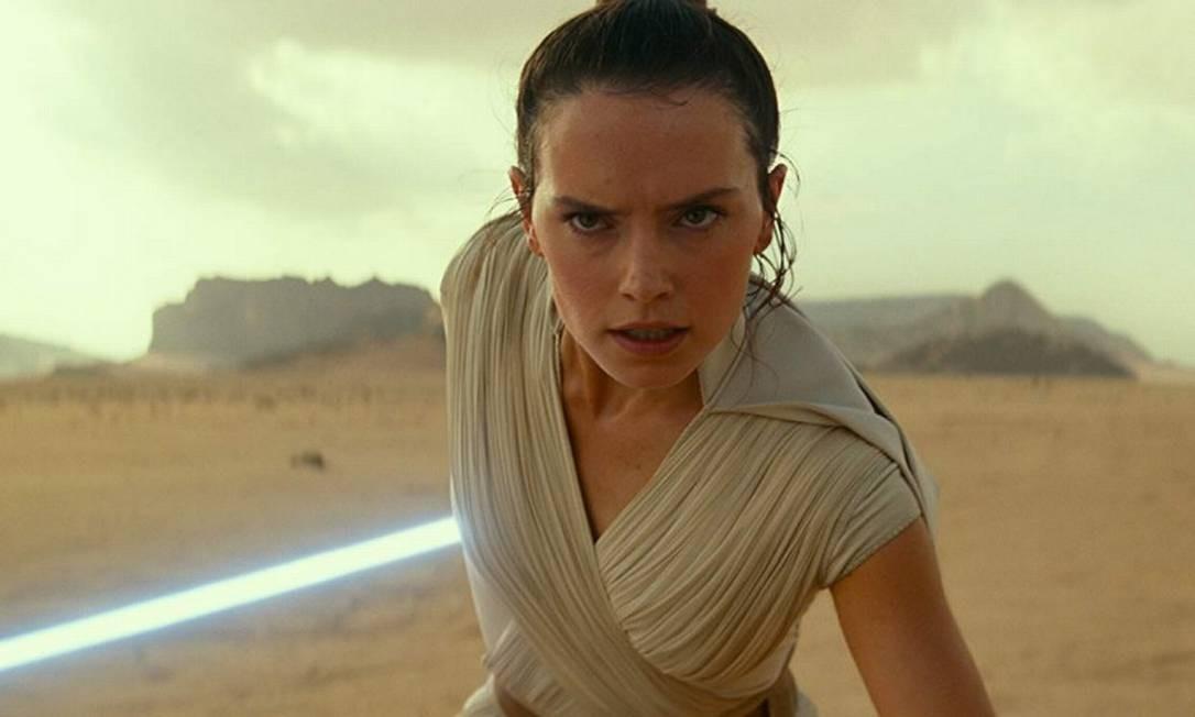"""Daisy Ridley em cena do filme """"Star Wars - A ascensão Skywalker"""" Foto: Divulgação"""