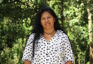 Sandra é da etnia guarani de Porto Lindo, do Mato Grosso do Sul Foto: Marcos Brailko / Divulgação