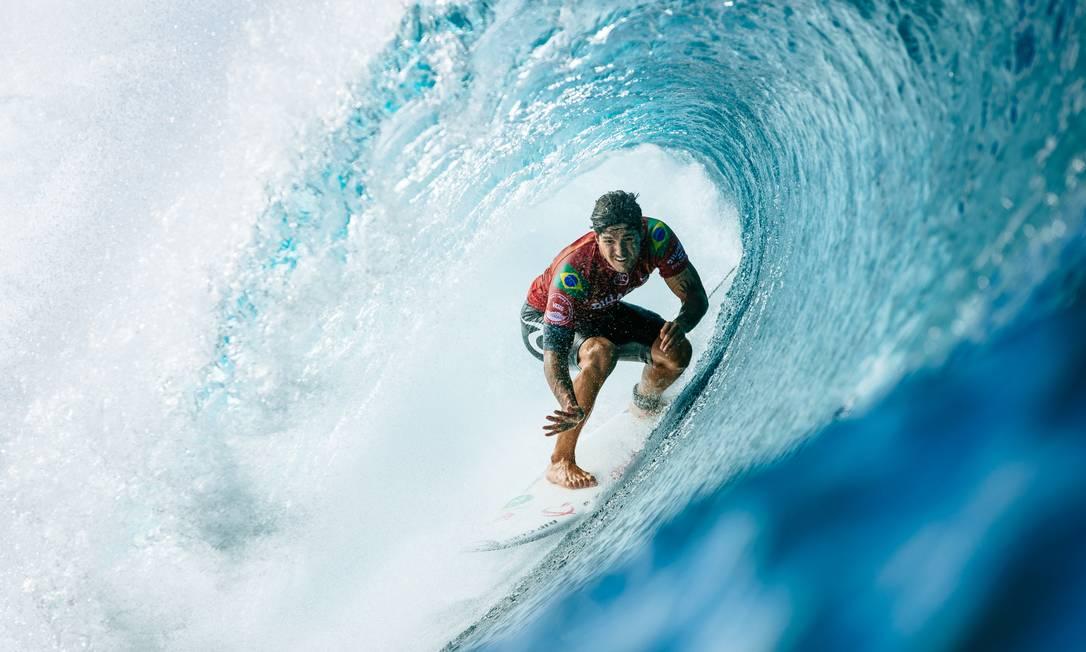 Gabriel Medina foi eleito o maior surfista brasileiro de todos os tempos Foto: Ed Sloane / WSL via Getty Images