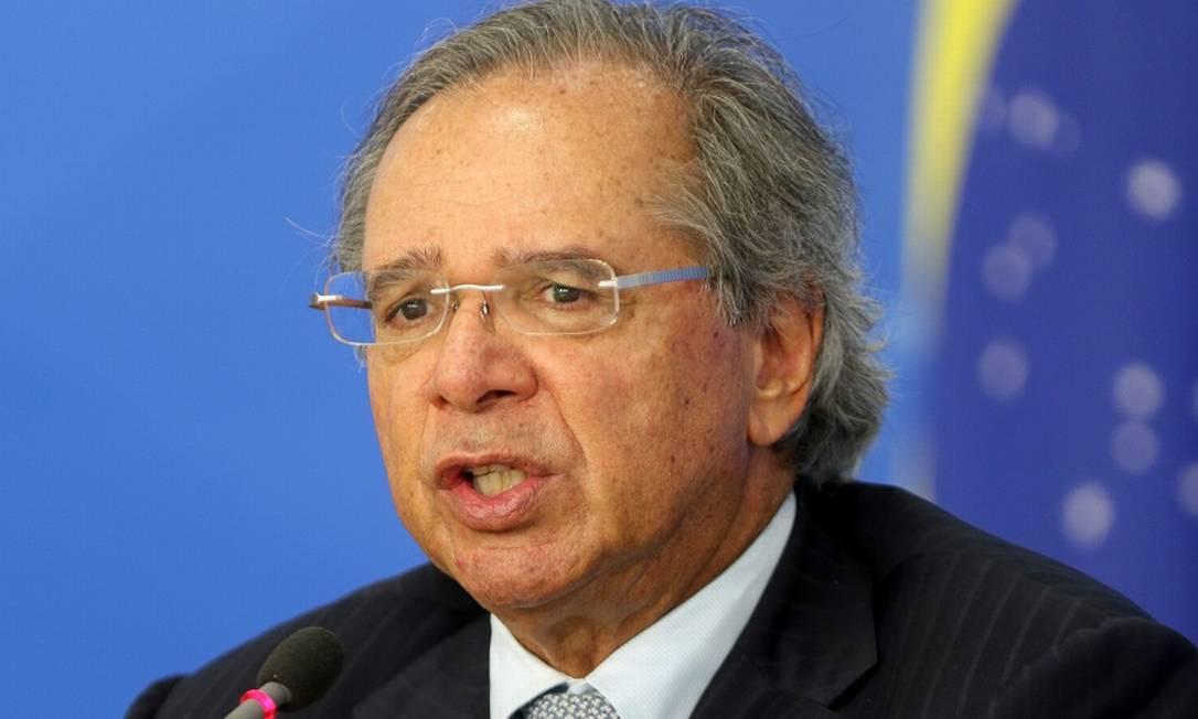 """O ministro da Economia, Paulo Guedes: """"anticlímax"""". Foto: Wilson Dias/Agência Brasil / Agência O Globo"""