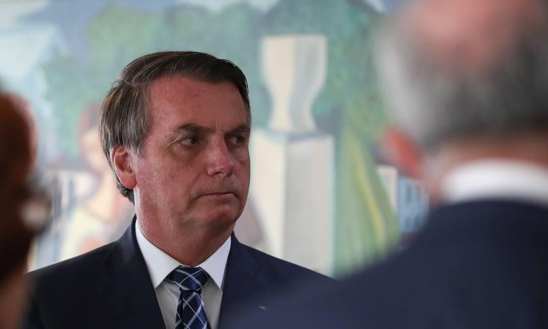 O presidente Jair Bolsonaro disse que a sociedade vai decidir se quer criação de novos impostos Foto: Marcos Corrêa / Presidência