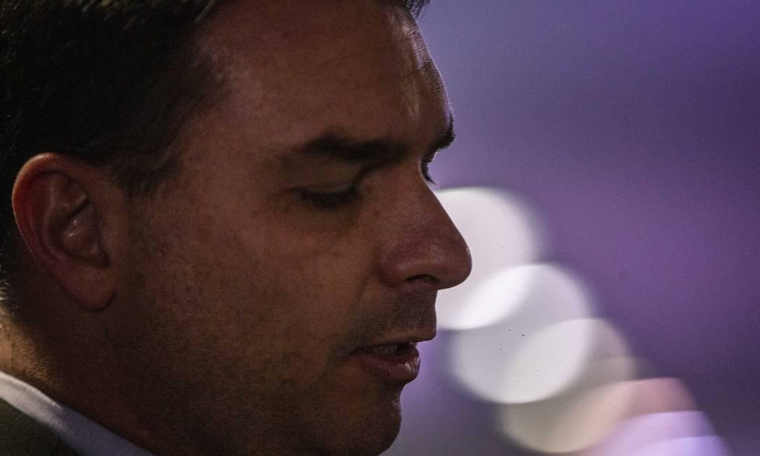 O senador Flavio Bolsonaro (sem partido-RJ) 11/09/2019 Foto: Daniel Marenco / Agência O Globo