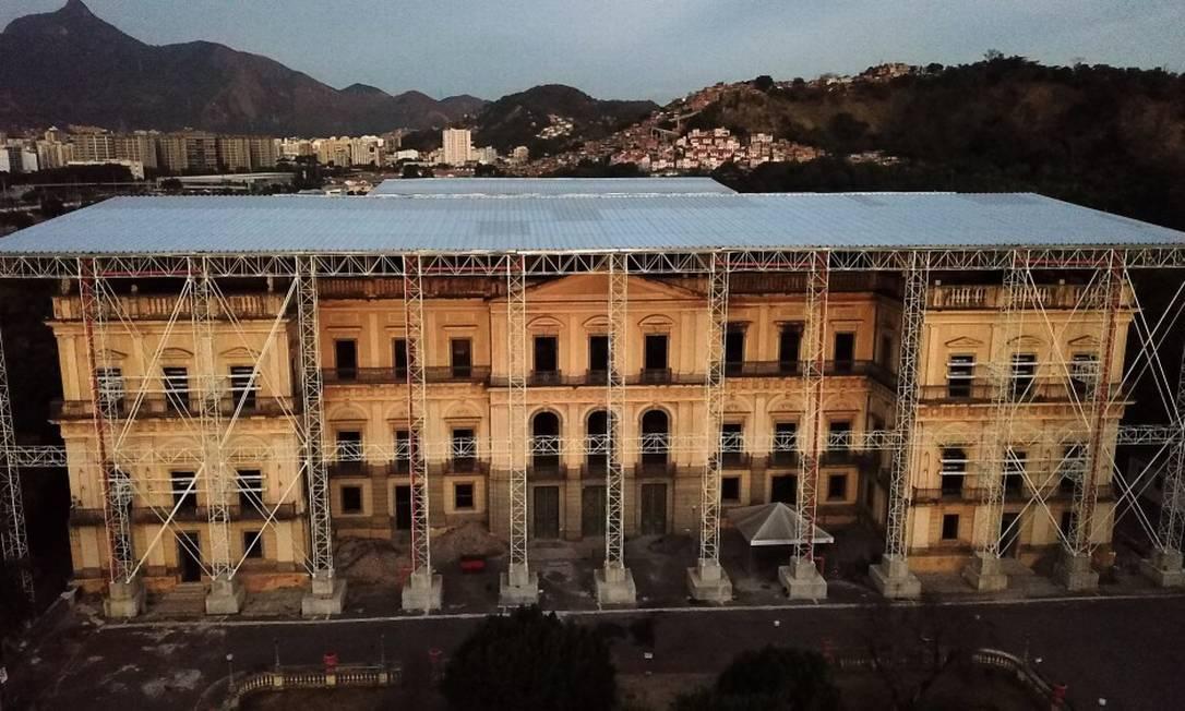Museu Nacional segue em restauração após ser destruído por incêndio Foto: Custódio Coimbra / Agência O Globo