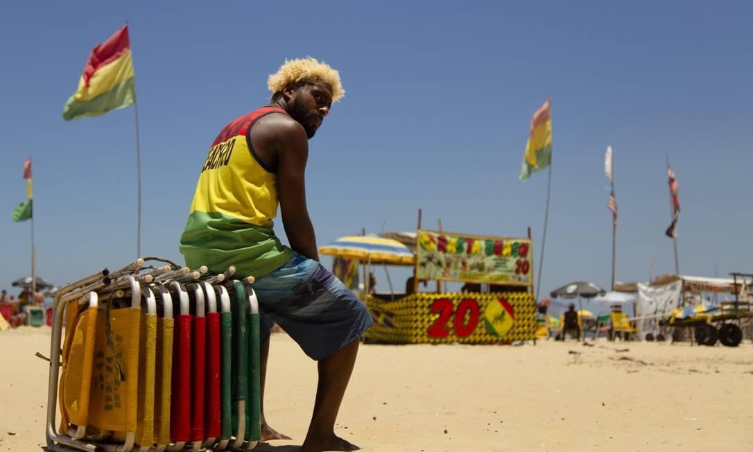Barraca Rasta Beach, na praia do Leme Foto: Agência O Globo/Leo Martins