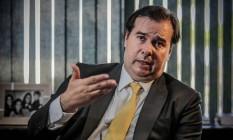 O presidente da Câmara afirmou que Roberto Alvim 'passou de todos os limites' Foto: André Coelho / Agência O Globo