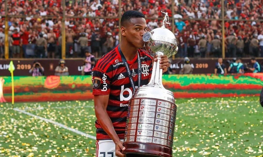 Lucas Silva, do Flamengo Foto: Reprodução/Instagram