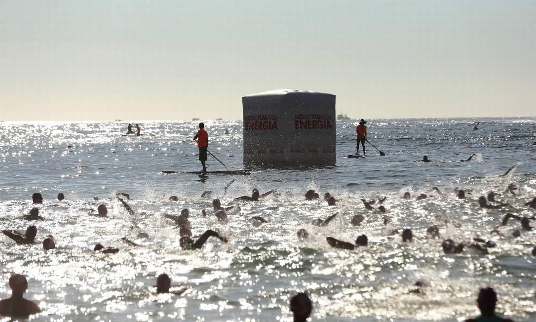 A etapa, última do circuito em 2019, contou com natação no mar, corrida e biathlon. Crianças (5 a 13 anos) e pessoas com deficiência concorreram em categorias especiais Foto: Marco Sobral/G.LAB