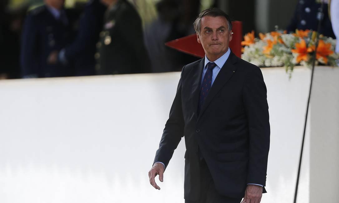 Avaliação negativa do governo Bolsonaro chegou a 38% este mês Foto: Jorge William / Agência O Globo