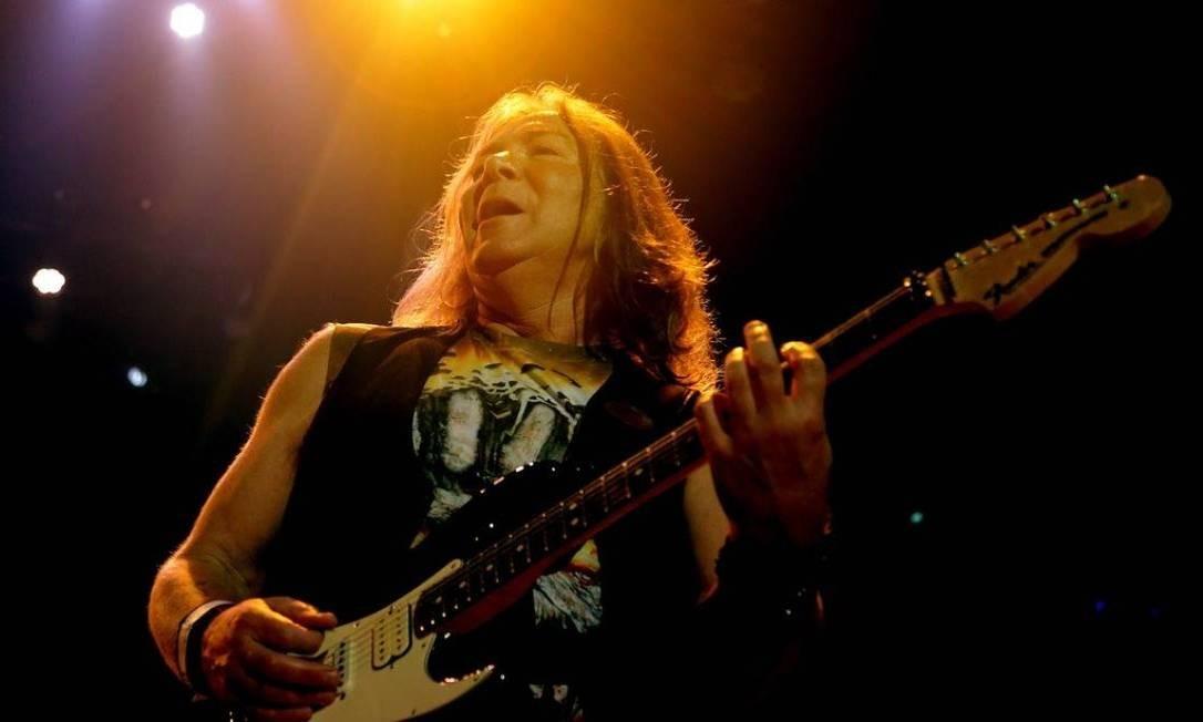 A banda inglesa Iron Maiden Foto: Marcelo Theobald/Agência O Globo