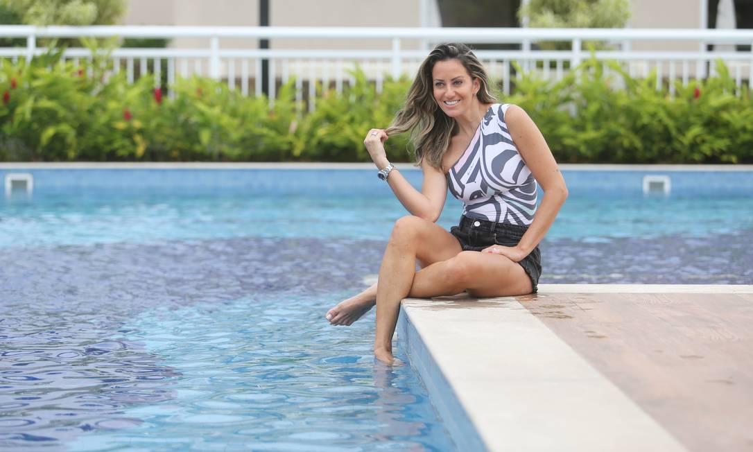 Perfil de Fernanda Rigon apresenta coleção de verão de sua marca de moda praia Foto: Guilherme Pinto / Guilherme Pinto